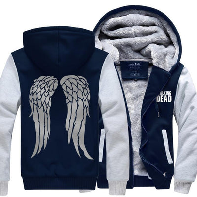2017 autumn down jacket Hot New The Walking Dead Hoodie Zombie Daryl Dixon Wings Winter Fleece Mens Sweatshirts Tracksuit thick