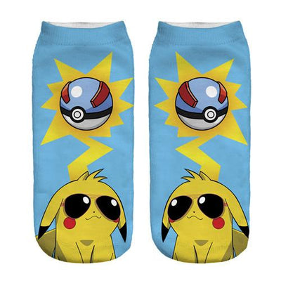 - % New Arrival Kawaii Harajuku Pokemon Pikachu Socks 3D Printed Cartoon Women's Low Cut Ankle Socks Novelty Casual Socks Meias D - sxa90400 / One Size  jetcube
