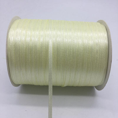 "- (20Yards/lot)1/8"" 3mm Silk Satin Ribbon Polyester Ribbon Wedding Christmas Party Decoration DIY Gift Packing - Beige  jetcube"