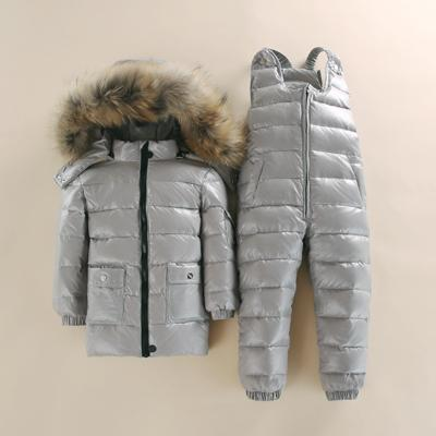- -30 2~4 Y Russian Child Winter Ski Snowsuit Baby white down Boys Waterproof Clothing Set jacket Kids Coat for Girls Enfant Parka -   jetcube