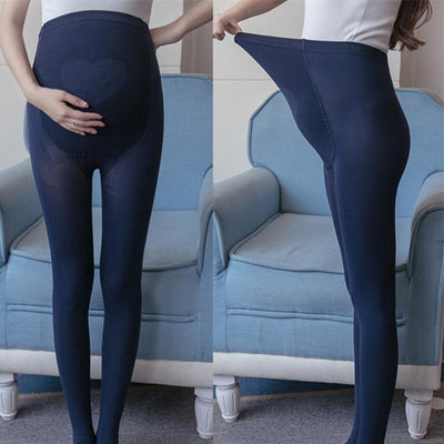 - 01# 320D Elastic High Waist Belly Maternity Tights 2017 Spring Autumn Sexy Skinny Stockings for Pregnant Women Pregnancy Legging -   jetcube