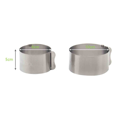 - 1 Pc Retractable Stainless Steel Circle Mousse Ring Baking Tool Set Cake Mould Size Adjustable Bakeware 6-10cm -   jetcube