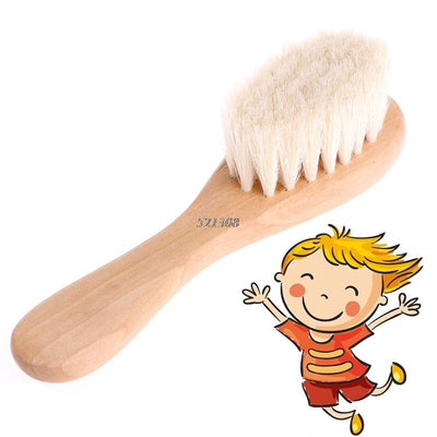 - (YAS) 2017 Wooden Handle Brush Baby Hairbrush Newborn Hair Brush Infant Comb Head Massager MAR30_17 -   jetcube