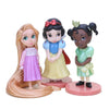 - 11pcs Moana Snow White Merida Princess Action Figures Mulan Mermaid Tiana Jasmine Dolls Anime Figurines Kids Toys For Children -   jetcube