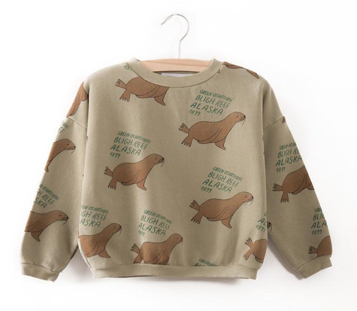 2017 autumn winter dear world sweatshirt for baby boys girls kids clothing