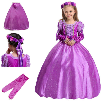 2/3/4/5PCS New Fashion Lovely Cosplay Clothes Princess Tangled ...