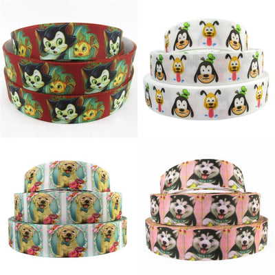 "- (5yds per roll) 1""(25mm) dog high quality printed polyester ribbon 10 yards,DIY handmade materials,wedding gift wrap,10Yc432 -   jetcube"