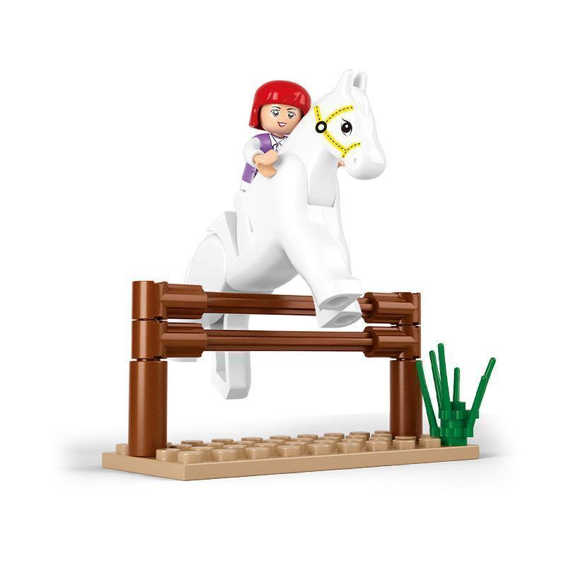 - 0517 SLUBAN Girl Friends Horse Racing Model Building Blocks Classic Enlighten DIY Figure Toys For Children Compatible Legoe -   jetcube