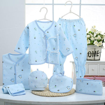 - 0-3M Newborn Infant Baby Girls boys Clothes Long-sleeved shirt,pants,hat,scarf 7pcs 5pcs Outfit Kids Clothing Set Factory cheap - 13 / 3M  jetcube