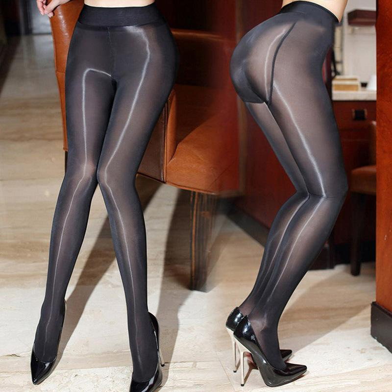 7406051b6 2017 New 8D Sexy Add-crotch Oil Shiny Pantyhose For Women High Waist Sheer  Magical
