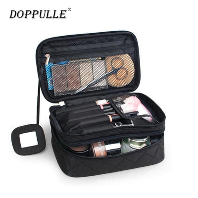 DOPPULLE Cosmetic Bags Makeup Bag Women Travel Organizer Professional Storage Brush Necessaries Make Up Case Beauty Toiletry Bag