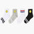 New Fashion Simple Smiley Face Socks Stripe Pure Cotton Ma'am Stink Prevention Hosiery 6 Colors