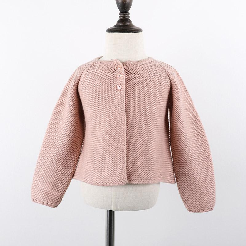 - 0-24m Baby Cardigan girls Jacket 2018 Spring knited Outwear For Children tops toddler kids clothing autumn - pink / 12M  jetcube