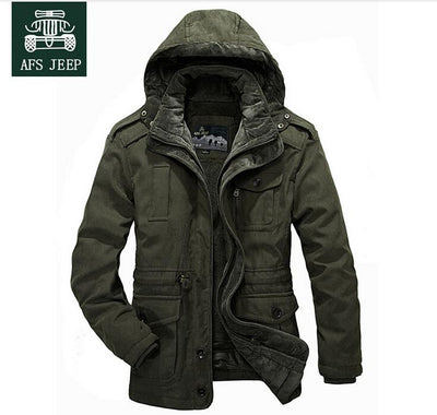 - -30 Degree Winter Coat Men Jackets New 2017 Plus Size 4XL Brand AFSJeep warm Thick Coats Military Vintage Style Mens Clothing -   jetcube