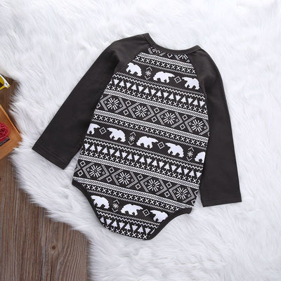 0-18M Infant Toddler Newborn Baby Boys Girls Unisex Bears Christmas Casual Clothes Bodysuit Jumpsuit Outfits  UpCube- upcube