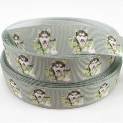 "- (5yds per roll) 7/8""(22mm) Dog high quality printed polyester ribbon 5 yards,DIY handmade materials,wedding gift wrap,5Y50752 -   jetcube"