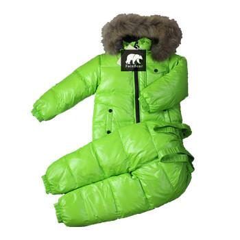 - -30 degree Russia Winter children's clothing girls clothes sets for new year's Eve boys parka jackets coat down snow wear - Green / 2T  jetcube