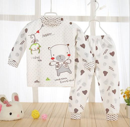 - (2pcs/set)cheapest Newborn Baby Clothing Set Brand Baby Boy/Girl Clothes 100% Cotton Cartoon Underwear,Free Shipping NT046 -   jetcube