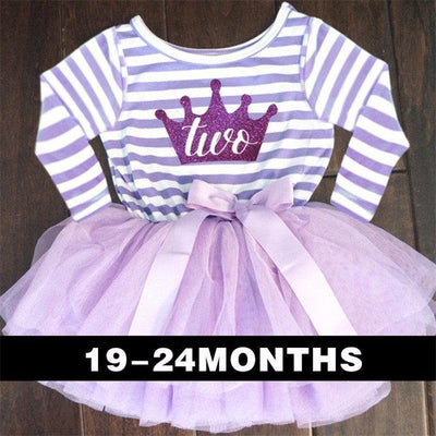 - 0-2 Years Baby Princess Girl Dress One Piece For Toddler Girl Clothing Stripe Tutu Dress Children Casual Dresses Infant Clothes - Z2  jetcube