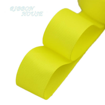 "- (5 meters/lot) 1"" (25mm) Grosgrain Ribbon Wholesale gift wrap Christmas decoration ribbons - Yellow  jetcube"