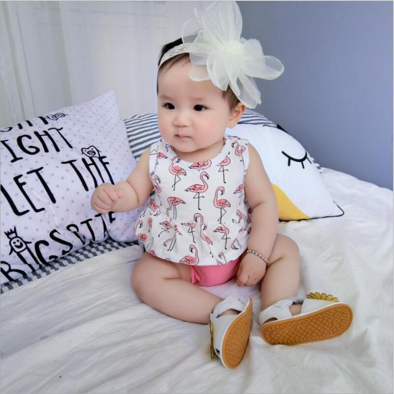 - 0-2 years baby dress fashion print baby vestidos with animal world print cotton cute suit dress +triangle trousers + tiara - swan / 12M  jetcube