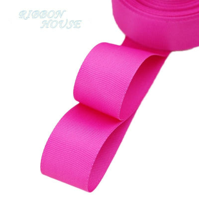 "- (5 meters/lot) 1"" (25mm) Grosgrain Ribbon Wholesale gift wrap Christmas decoration ribbons - Rose Red  jetcube"
