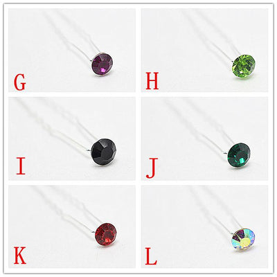 - 10 PCS Brides Hair Accessories Simple Hair Pins Rhinestone Hairpins Women Wedding Hair Jewelry (4.6 mm) H-425 -   jetcube