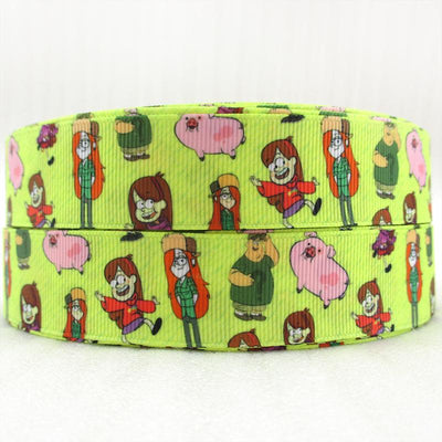 "- (5yds per roll) 1""(25MM) cartoon high quality printed polyester ribbon 5 yards,DIY handmade materials,wedding gift wrap,5Yc1155 - 1045340001  jetcube"