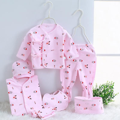 - 0-3M Newborn Infant Baby Girls boys Clothes Long-sleeved shirt,pants,hat,scarf 7pcs 5pcs Outfit Kids Clothing Set Factory cheap - 05 / 3M  jetcube