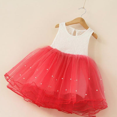 - 2-7Years Summer vestidos infantis Baby Dresses For Girl Party Dress Toddlers Tulle Princess Tutu Baptism Dresses Christmas - red / 2T  jetcube
