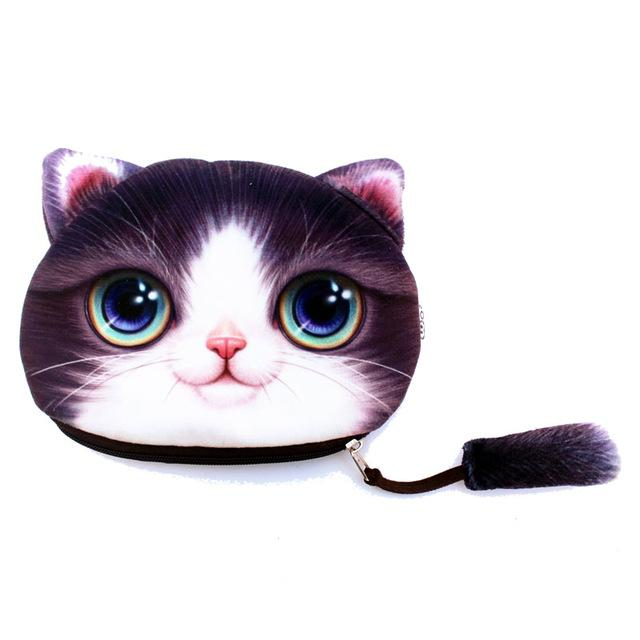 - (1pcs/sell) 3D Funny Cat Womens Travel Cosmetic Bags High Quality Makeup Bag Make Up Bag Neceser Luxury Brand Famous Brands Hot -   jetcube