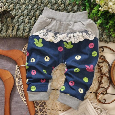 - (1piece /lot) 100% cotton 2016 cartoon pant for baby girl 1-3 year old 95cm - Gray / 12M  jetcube