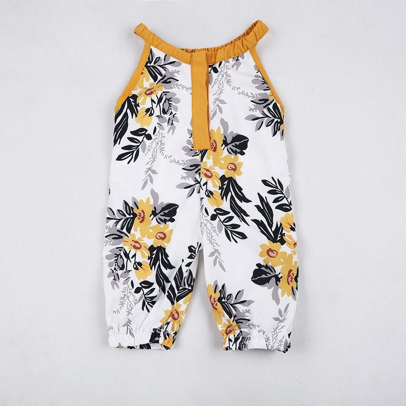 - 0-4Y Newborn Toddler Kids Baby Girl Clothes Sleeveless Floral Romper Playsuit One Pieces Sunsuit -   jetcube