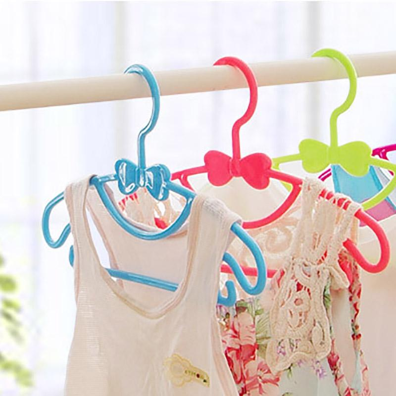 - 10pcs/Lot Kids Clothes Hangers Dry or Wet Kids Clothes Available Plastic Baby Hangers YJ01 -   jetcube