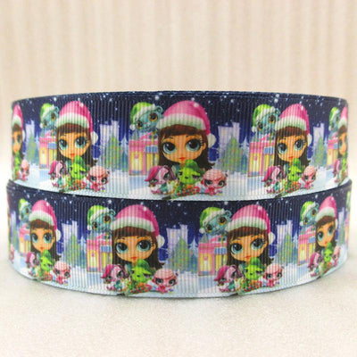 "- (5yds per roll) 1""(25MM) cartoon high quality printed polyester ribbon 5 yards,DIY handmade materials,wedding gift wrap,5Yc1155 - 2015783001  jetcube"