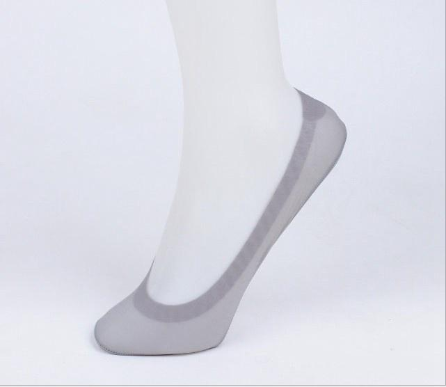 - 1 Pair Fashion Female Women Lace Antiskid Invisible Short Ankle Boat Low Cut Ice Summer Socks For Girl - grey  jetcube