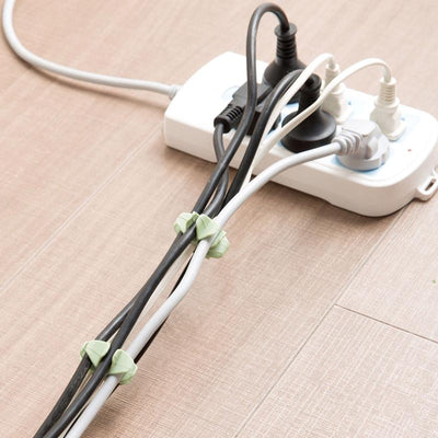 - 12pcs PC TV Computer Wire holder cable organizer Winder Wire Wrap Cord Mount Management Cable Holder Clips -   jetcube