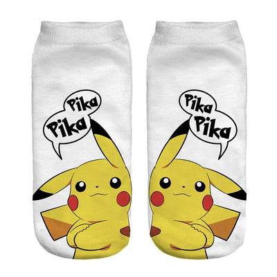 - % New Arrival Kawaii Harajuku Pokemon Pikachu Socks 3D Printed Cartoon Women's Low Cut Ankle Socks Novelty Casual Socks Meias D - sxa43603 / One Size  jetcube