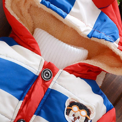 - 2016 Hot autumn winter Kid Fashion Jacket Boy and girl Cashmere Long Sleeve Hooded Clothing Children Warm Coats -   jetcube