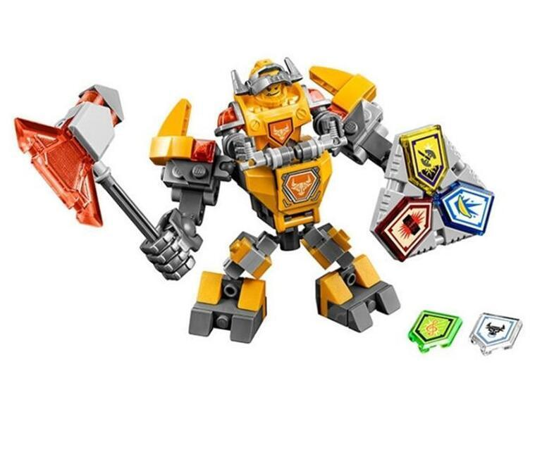 - (YNYNOO)10585 10586 10587 10588 10589 Nexus Knights Building Blocks set Macy Aaron AXL Lance Clay Battle Suit Kids bricks toys - Yellow  jetcube