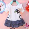 - (1piece /lot) 100% cotton baby princess dress autumn 2016 free shipping - White / 12M  jetcube