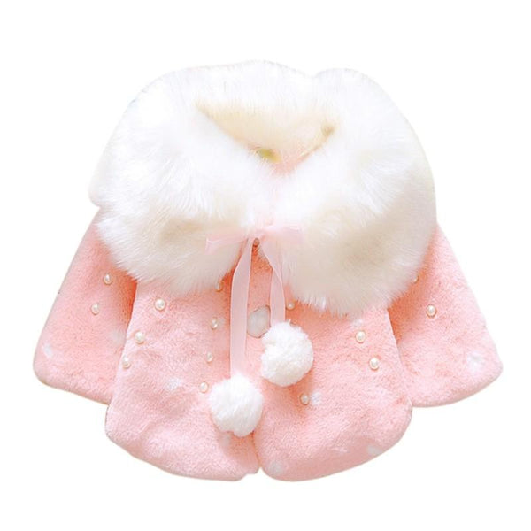 0~2Years Old Baby Girls Infant Cotton Winter Warm Coat Cloak Jacket Thick Warm Clothes Red/Pink Color j2 - Ecart