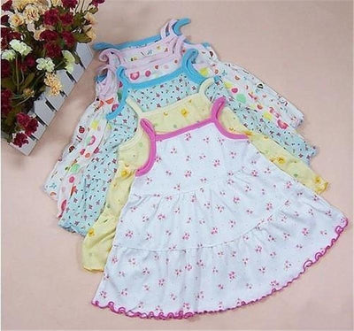 - 0-1-2T Cute & Nice printing Infant baby cotton dress toddler children girl's Various styles dresses summer clothes - Design 3 Random / 12M  jetcube