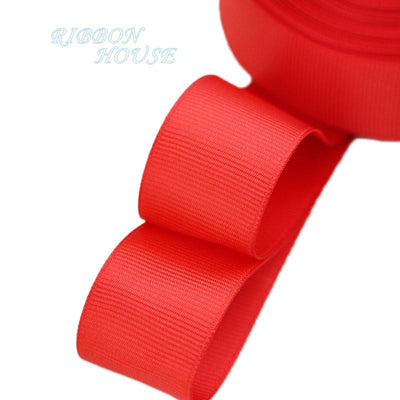 "- (5 meters/lot) 1"" (25mm) Grosgrain Ribbon Wholesale gift wrap Christmas decoration ribbons - Red  jetcube"