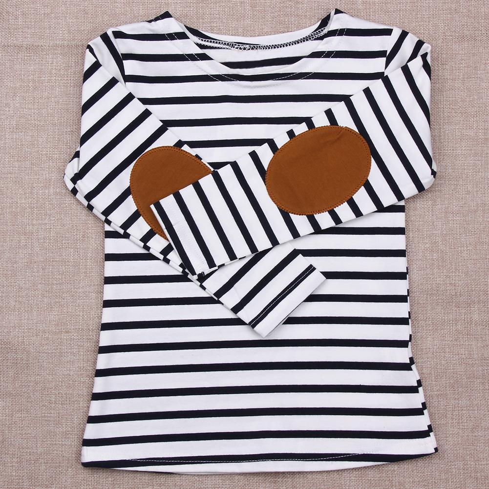 Kids Striped Cotton T-shirt Children Clothing Baby Boys Girls Spring Autumn Long Sleeve Tops Tees Infant Casual Clothes