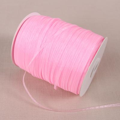- (20 yards/lot) 1/8''(3mm) organza ribbons wholesale gift wedding Christmas decoration wrapping ribbons - 1004  jetcube