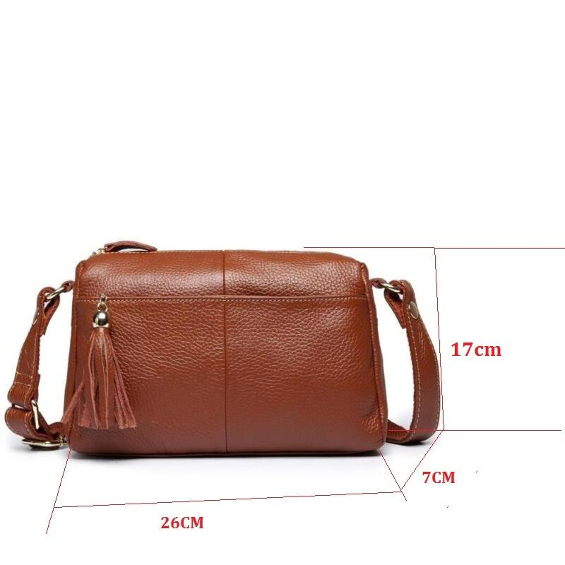 - 100% Genuine Leather Bag Designer Women Handbags High Quality Shoulder Bags Women Messenger Bags Female Tote 2017 Famous Brands -   jetcube