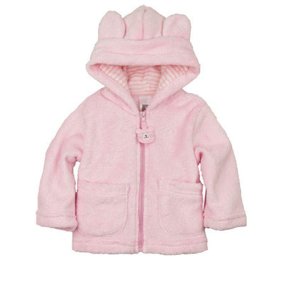 - 2014 spring autumn Coral velvet baby jacket/coat long-sleeved hooded infant boy girl carter thick tops - Pink / 0-3 months  jetcube