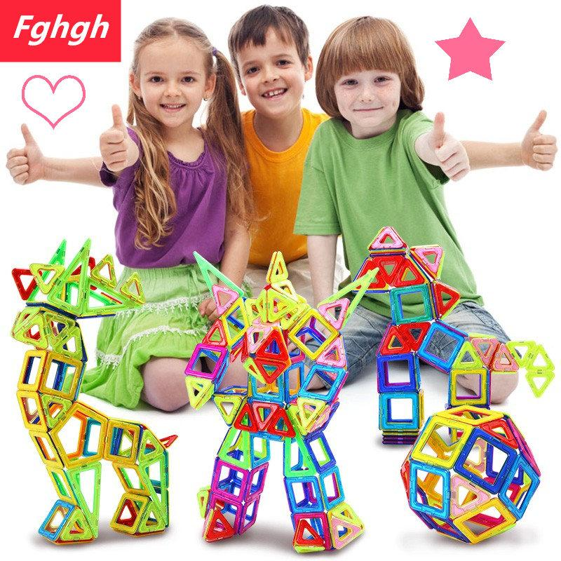 - 110pcs Mini Magnetic Designer Construction Set Model Building Toy Plastic Magnetic Blocks Educational Toys For Kids Gift -   jetcube