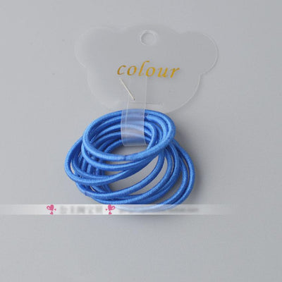 - 10 Pcs/ lot (1 pack) Mini 2.5mm thickness hair ropes little girls Slim hair ties kids Babe hair ropes accessories - Royal Blue  jetcube